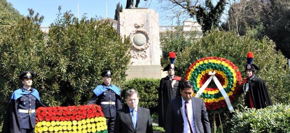 ACTO DE REIVINDICACIÓN MARÍTIMA BOLIVIANA EN ROMA 2