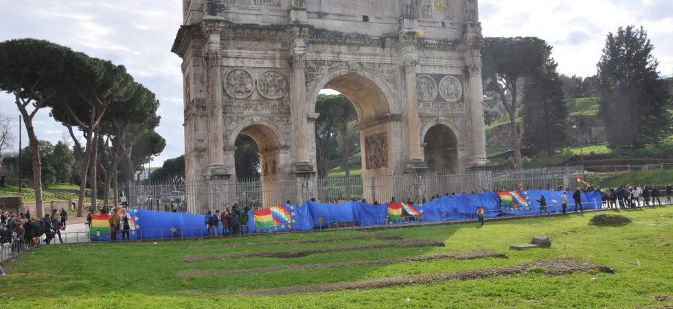 Banderazo Bolivia Italia