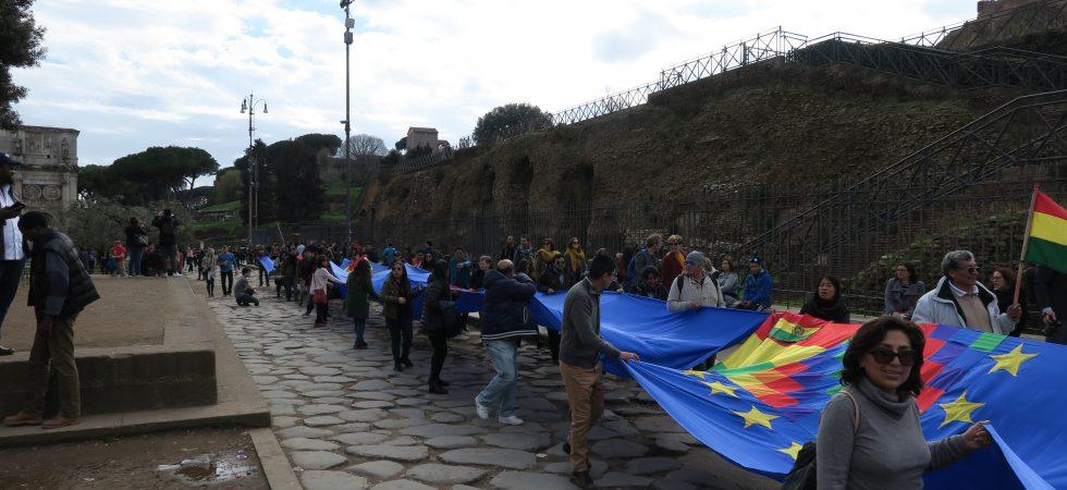 Banderazo en Roma